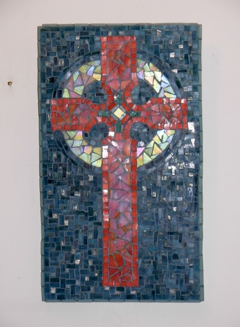 Mosaic Cross for Wayne by Margaret Almon