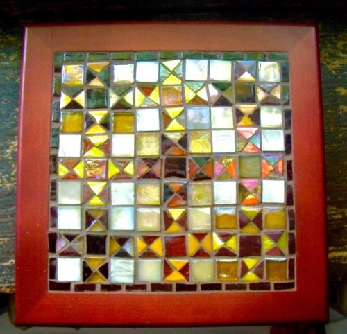 Ohio Star Glass Mosaic by Margaret Almon