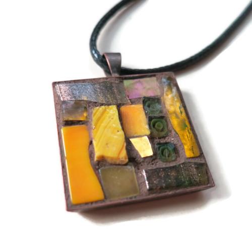 Yellow Ochre Pendant by Margaret Almon