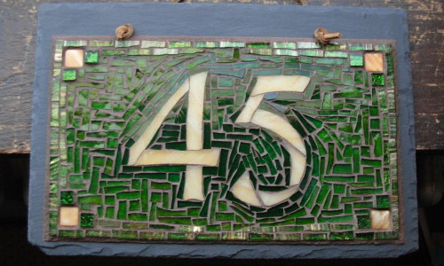 Mosaic 45 for our own house, by Margaret Almon and Wayne Stratz