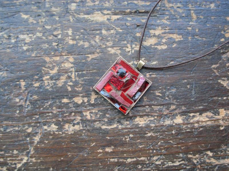 January Garnet Inspiration Pendant by Margaret Almon.