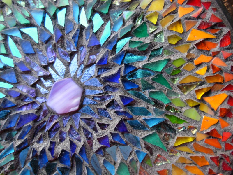 Rainbow Mosaic Mandala by Margaret Almon