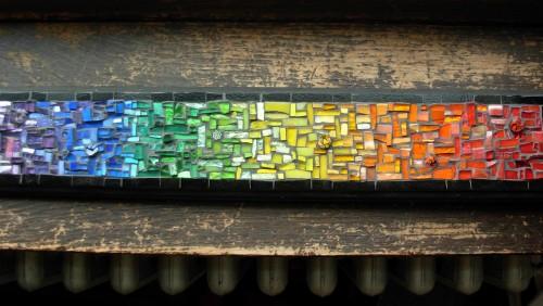 Rainbow Panel Mosaic by Margaret Almon