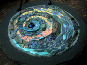 Sea Spiral Mandala Mosaic by Margaret Almon