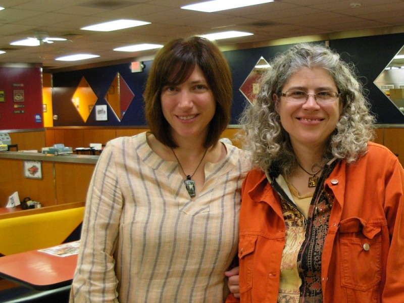 Cate, my adventurous sister, and me at the West Main Diner the day she left for South Africa