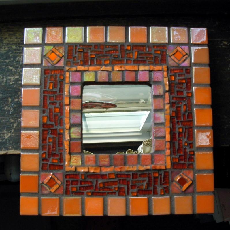 Luscious Orange Mirror by Margaret Almon of Nutmeg Designs