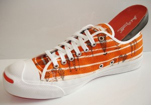 Lucienne Day Converse Sneakers in Orange