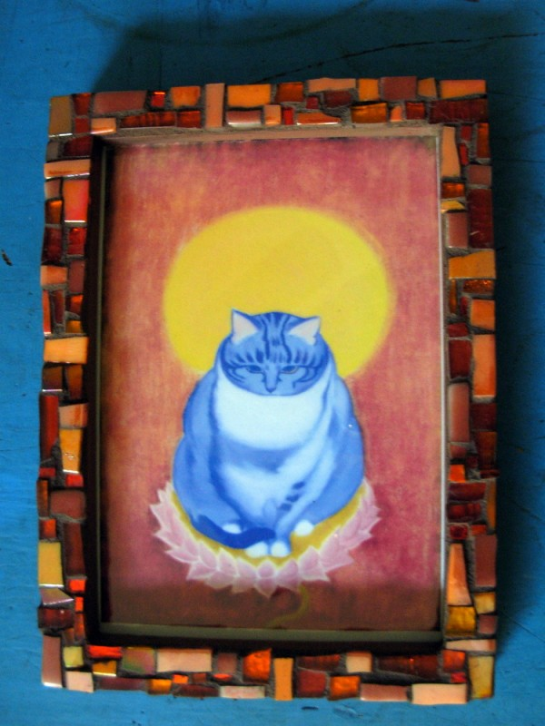 Here Kitty By Ivan Chan. Frame by Margaret Almon.