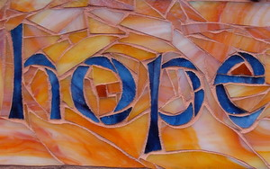 Hope Mosaic by Margaret Almon and Wayne Stratz of Nutmeg Designs