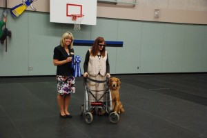 Susan Beber and Riley, CD Title and High in Class. Photo courtesy Susan Beber.