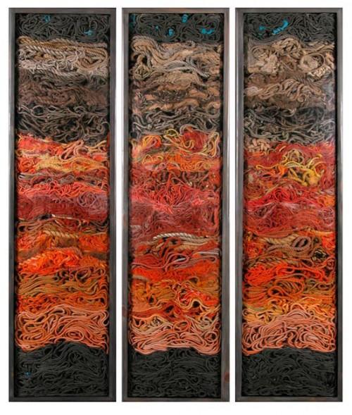 Orange Rope by John Dahlsen
