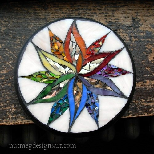 Rainbow Starflower Mandala by Nutmeg Designs