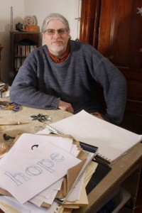 Stratoz(Wayne Stratz) in his studio. Photo ©Allison Puketza.