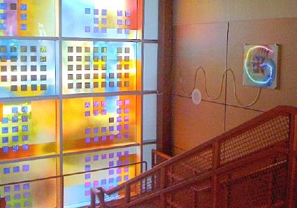 Sarah Hall, Lux Nova, solar lit glass at Regent College