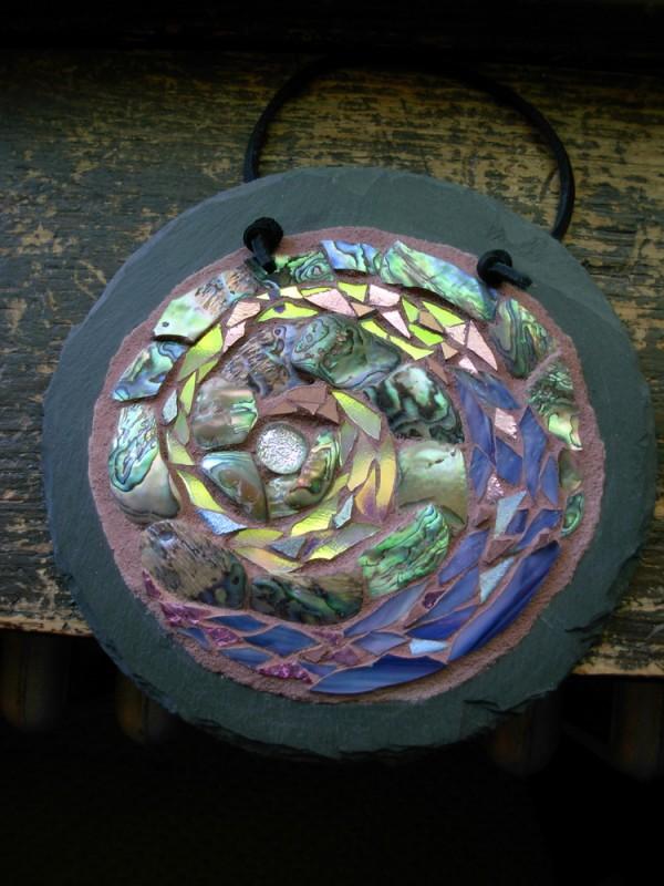 Spiral Mosaic Mandala by Margaret Almon
