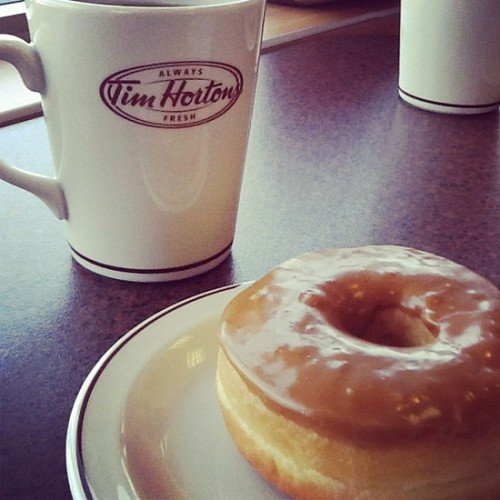 Tim Hortons Coffee and Maple Glaze, Photo by Wayne Stratz.