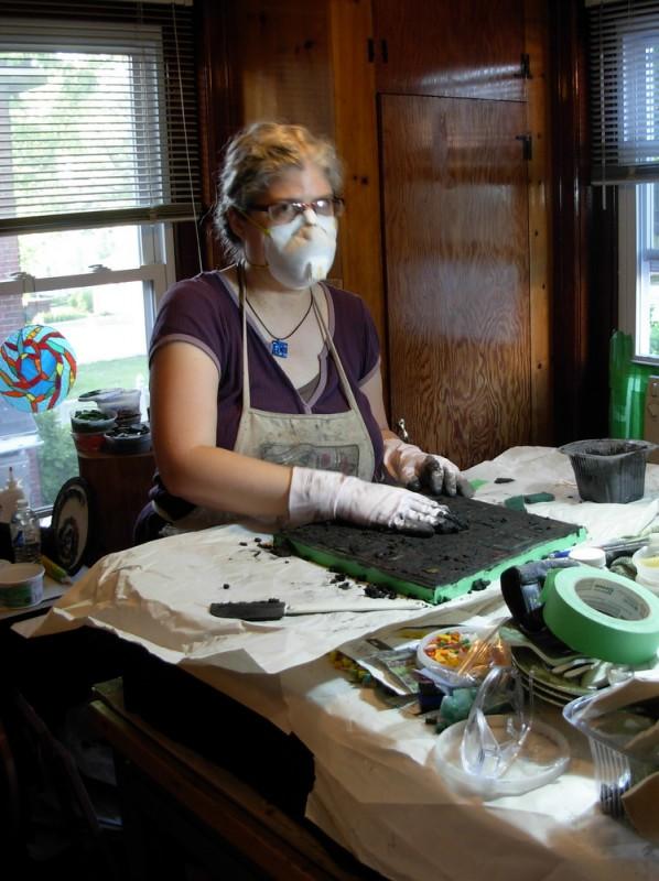 Margaret in the Studio