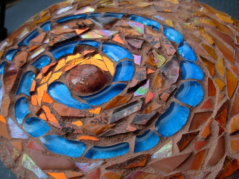 Blue Path Spiral by Margaret Almon