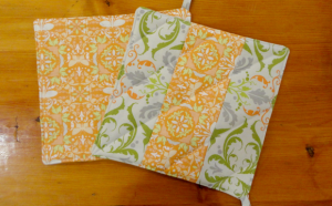 dop dop design Potholders Avocado Orange at Bella and Betty