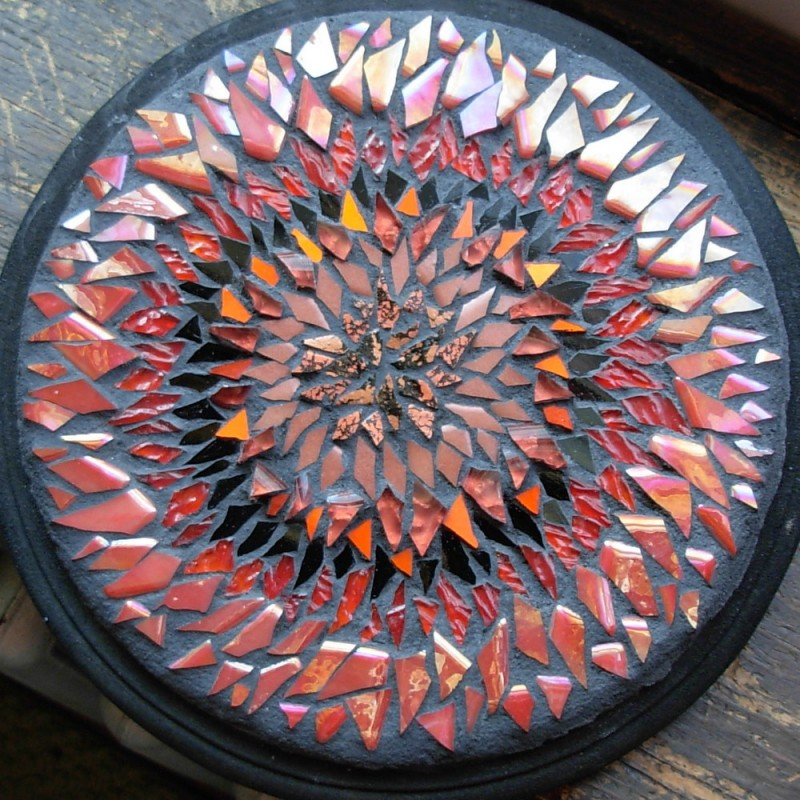 Red Blanket Flower Mandala by Margaret Almon