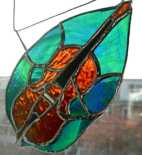 Cello Suncatcher by Wayne Stratz.