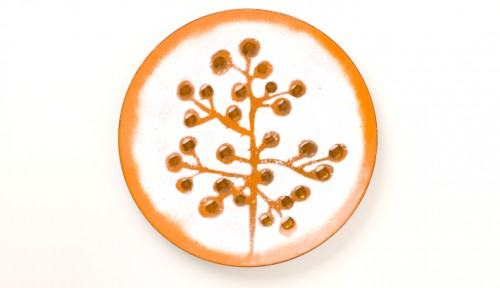 Evelyn Ackerman, Seed Pods, dish enamel on copper, 1960