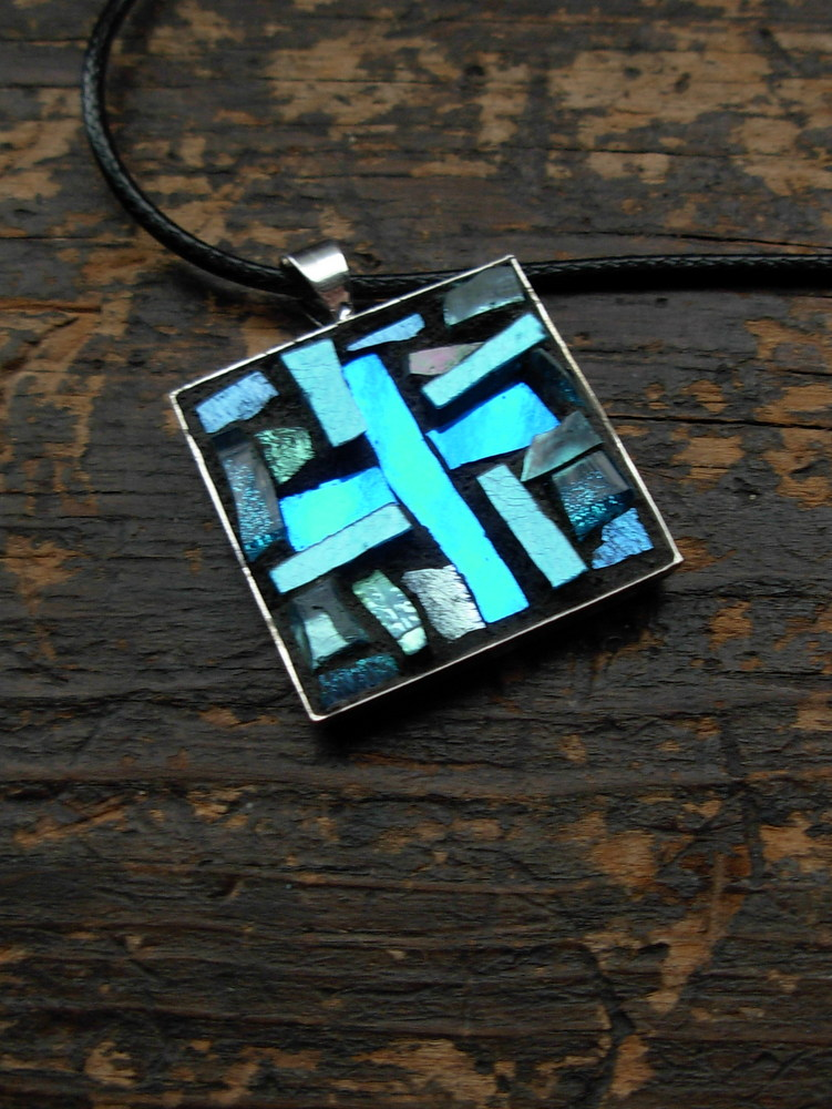 Mosaic Cross Pendant for Mimi by Margaret Almon.