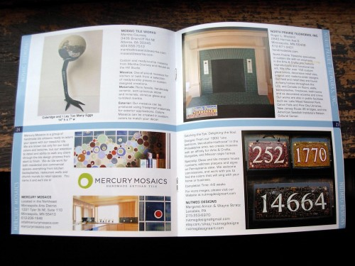 Nutmeg Designs in the Handmade Tile Association 2013 Directory