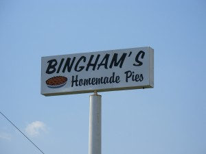 Bingham's Homemade Pies, Lenox, PA