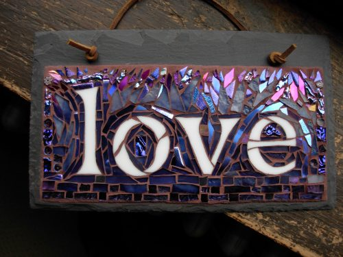Love in Purple Mosaic by Nutmeg Designs