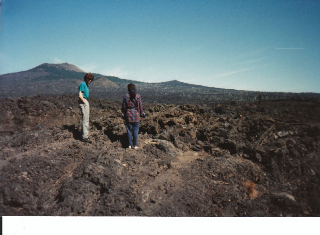 Margaret and Wayne on Lava Bed