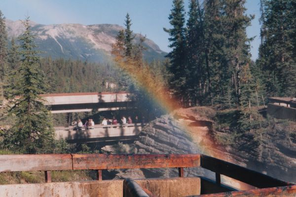 Rainbow at Athabasca Falls, Jasper National Park