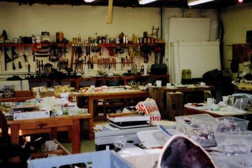 Inside the Snow Farm Wood Shop
