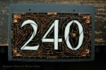 Custom Mosaic House Number by Nutmeg Designs.