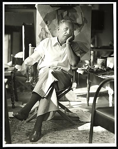 Stanton Macdonald-Wright, 1948 / Robert Bruce Inverarity, photographer. Robert Bruce Inverarity papers, Archives of American Art, Smithsonian Institution.