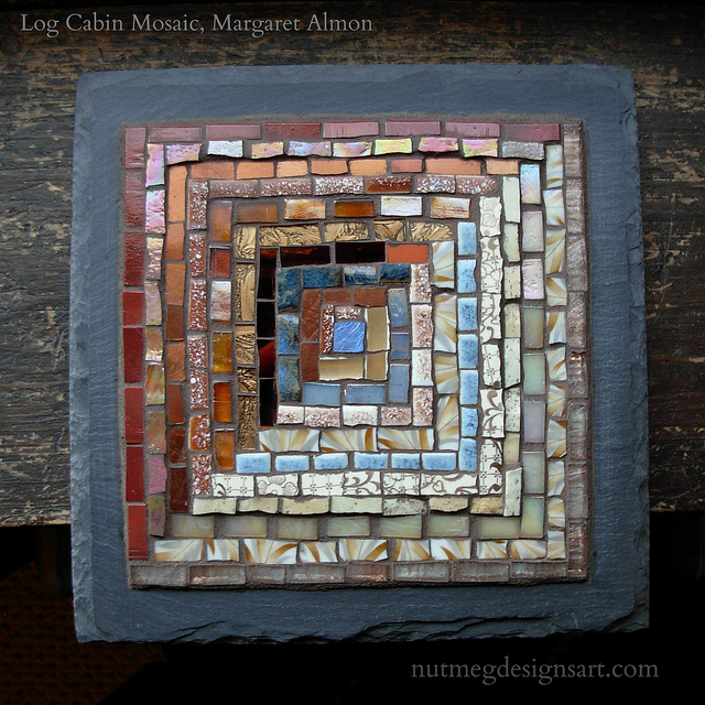Log Cabin in Copper and Cream by Margaret Almon