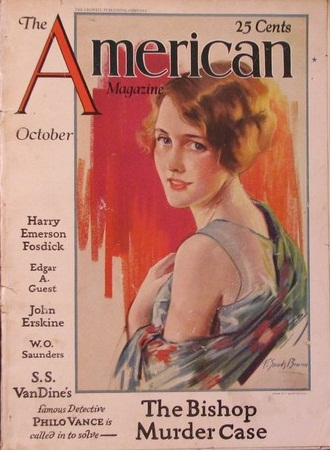 The American Magazine 1928 with a story by S.S.Van Dine(pen name of Willard Huntington Wright)