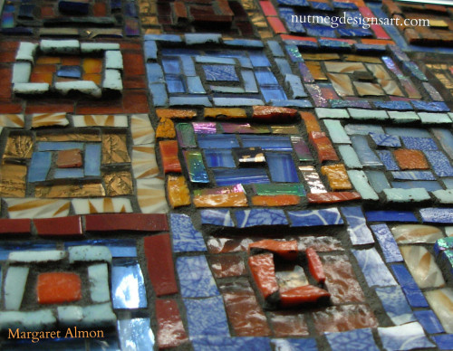 Around the Square mosaic by Margaret Almon