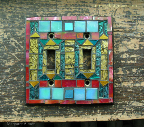 Art Deco Mosaic Switchplate by Margaret Almon