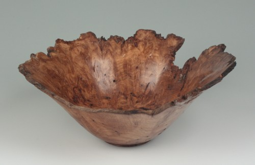 Natural Edge Oak Burl Bowl by Bernard Hohlfeld.