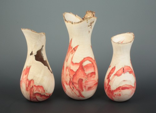 Natural Edge Box Elder Vases by Bernard Hohlfeld.