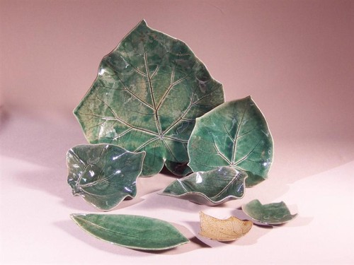 Leaf Plates by Connie Bracci-McIndoe