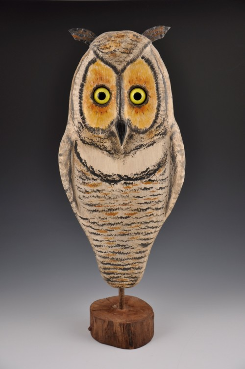 Ron Dombrowski Wood Carving Owl