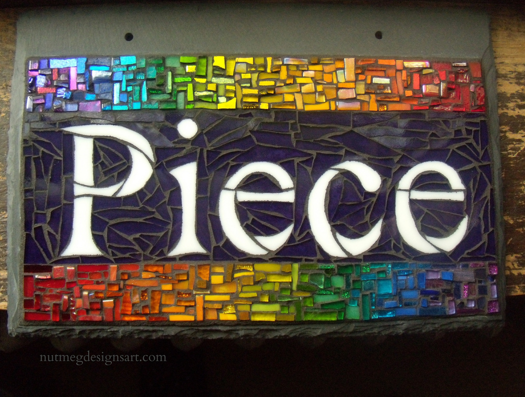 PIece Sign Mosaic for a Quilter by Nutmeg Designs