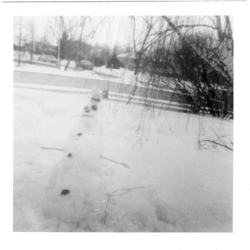 My Snow Man March 8, 1975 in Edmonton, AB