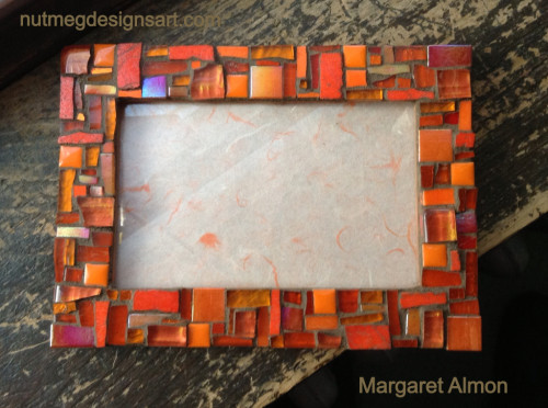 Orange Patchwork Frame by Margaret Almon