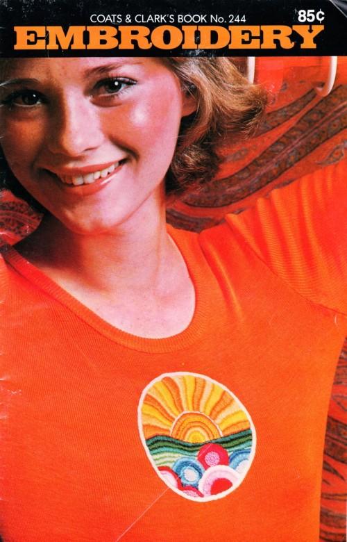 Coats & Clark Book No. 244: Embroidery in Orange