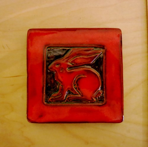 Orange Rabbit Tile from Goggleworks, Reading, PA.