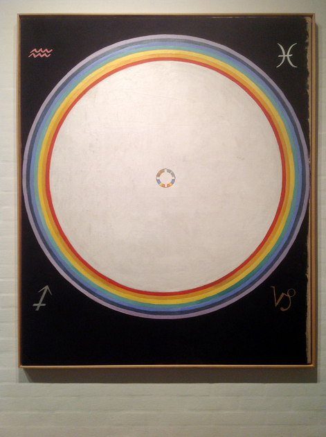 Hilma af Klint: Group IX/UW, No. 38, The Dove, No. 14, 1915, 154 × 128.5 cm, Oil on canvas. Foto: Henrik Grundsted. Courtesy: Stiftelsen Hilma af Klints Verk.