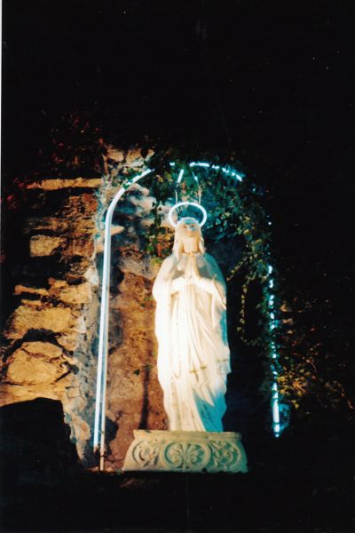 Blue Neon Madonna in Dunmore, PA. Photo by Margaret Almon